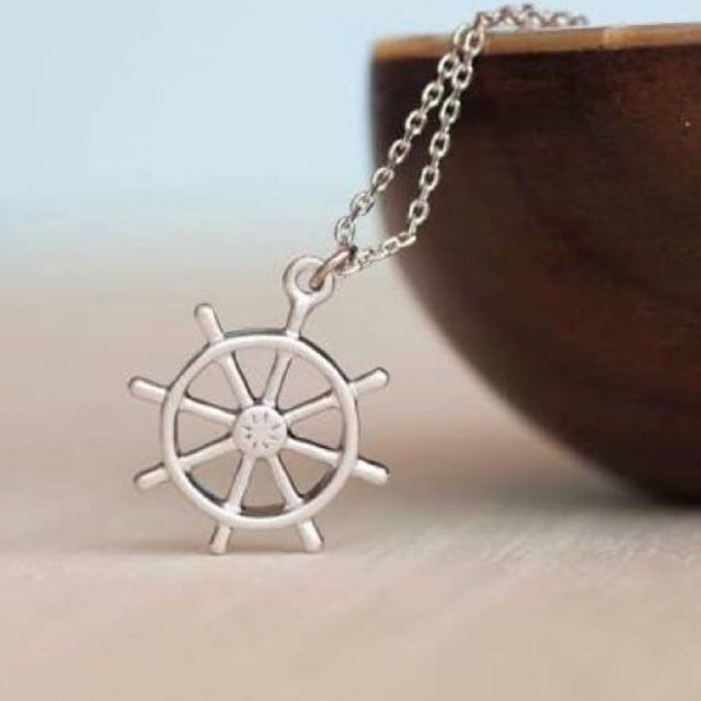 Ship's Helm Necklace