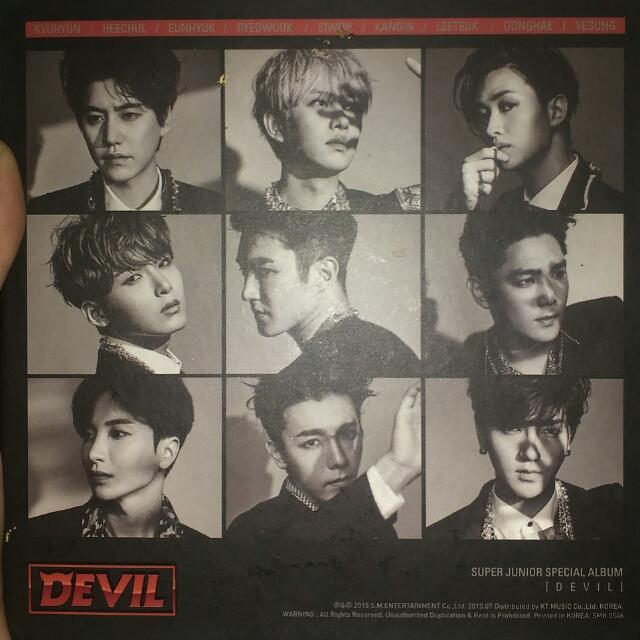 SJ DEVIL SPECIAL ALBUM 2015