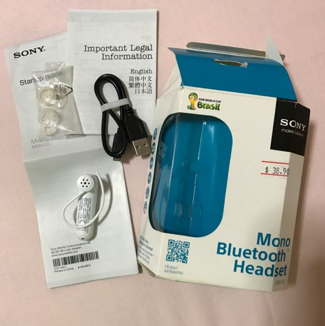 Sony Mono Bluetooth Headset Music Media Music Accessories On Carousell