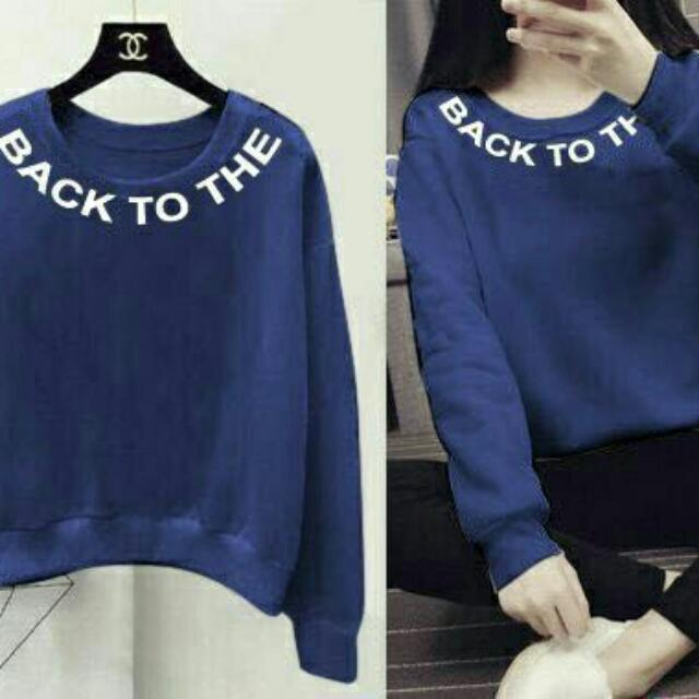 SWEATER NEWBACK NAVI, BLACK, WHITE