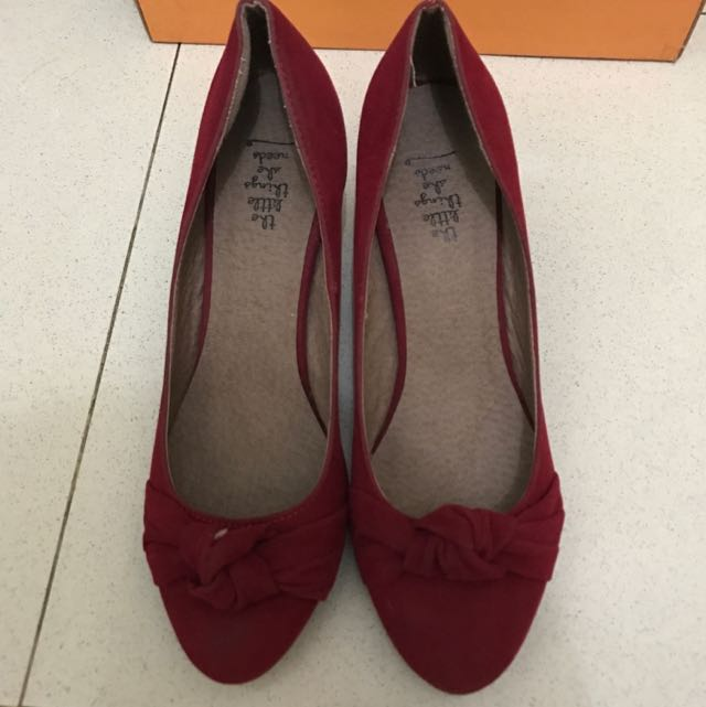 The Little Things Red Ribbon Heels