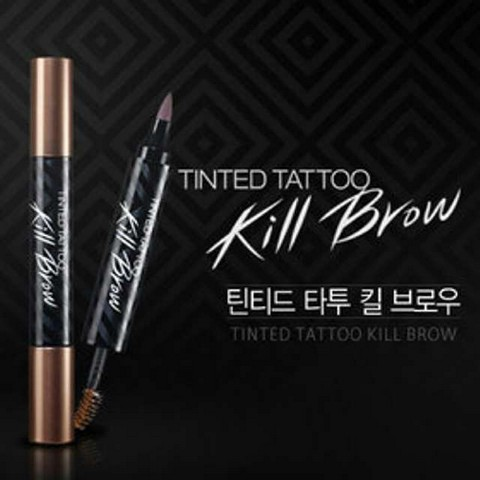 Tinted Tattoo Kill Brow Kiss Beauty 2 in 1 - Tato Alis dan Maskara