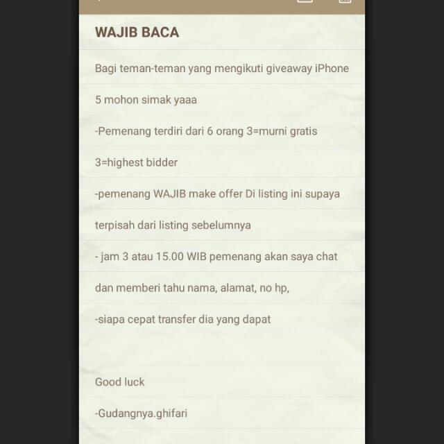 #tisgratis IPhone5 Batangan