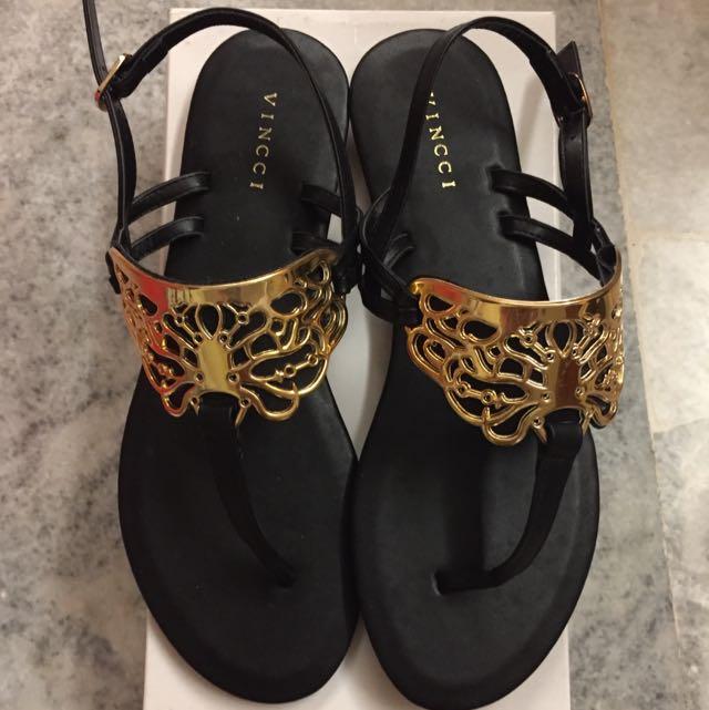 Vincci Black Sandals