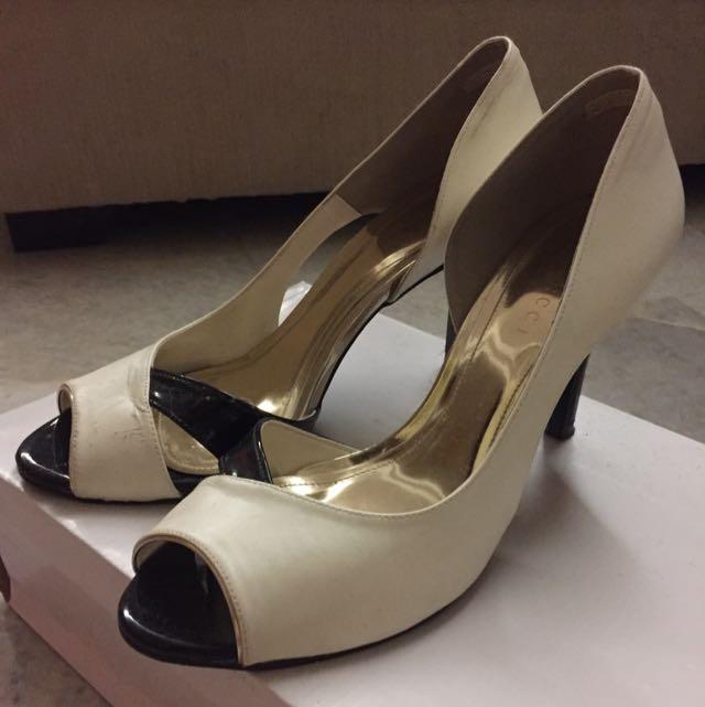 Vincci Black White Heels