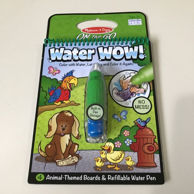Water WOW Coloring Book, Babies & Kids, Toys & Walkers on Carousell