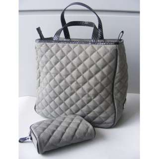 4311f5f9f5f8 Kwanpen Canvas and Snake Leather Bag (Grey 0401)