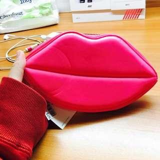 H&M 紅唇包 螢光粉 #轉轉來交換