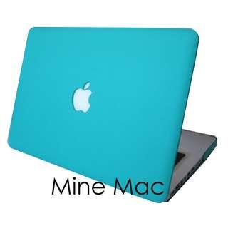 Mine Mac Matte Case Macbook Air 11 inch with Cut Out (Logo Berlubang) - Tiffany Blue