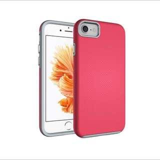 iPhone 7 Case Hybrid Shock Modern Slim Non-slip Grip Cell Phone Case for Apple iPhone 7 - Rose Red