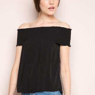 Brandy Melville - Black Seymour Off The Shoulder Top