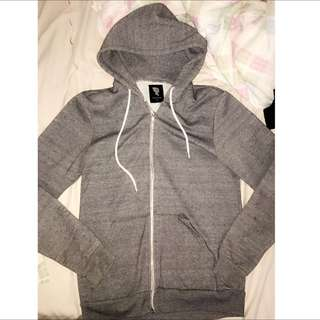 100% Talula Salt & Pepper Zip Up Hoodie