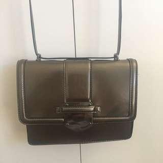Metallic Silver Bag