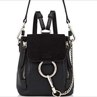 Brand New Chloe Faye Backpack Black