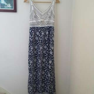 Beaded Maxi Dress Size 8