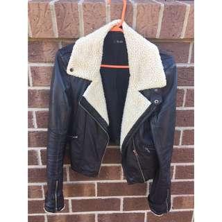 Bardot Faux Leather Jacket - Size 8