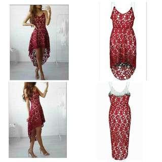 Fashion Lace Irregular Lady Dress