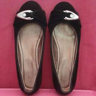 Black Shoes (Wadges 3cm) Sz 38 (23cm - 23,5cm)