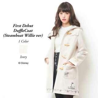 日本Secret Honey Disney 米奇蒸氣船大衣外套