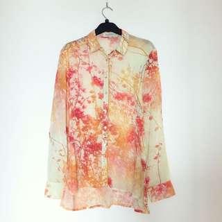 Stradivarius Floral Shirt