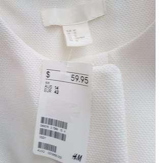 H&M White Jacket - BNWT - Size 12