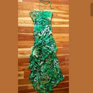 Formal Gasp Dress Backless Size XS Green
