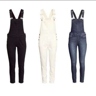 Hnm dungaree in white
