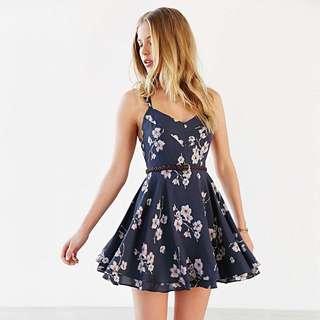 Floral Bare Back Dress