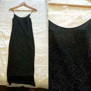 Elegant Sequined Midi Dress