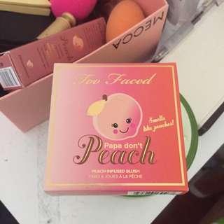 Papa Don't Peach Too Faced Blush