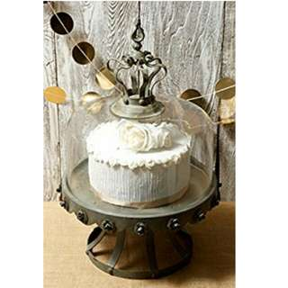 Rustic Glass Dome Cake Stand
