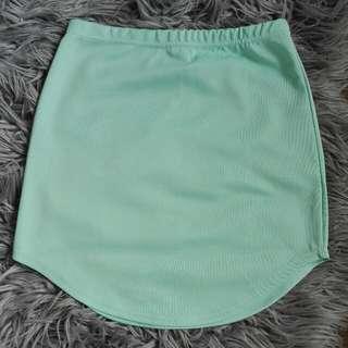 Mint High Waisted Bodycon Skirt