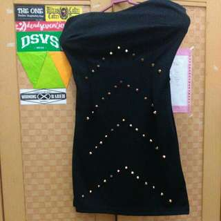 ❗Studded Mini Dress With Cup Bra