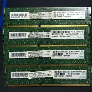 DDR3 1333 2G內存*4
