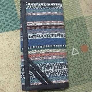 時尚編織長版皮錢包皮夾