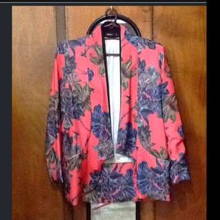 Colored Printed Blazer