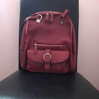 2in1 Shoulder And Backpack Red Bag