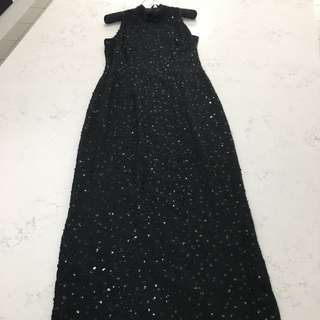 Black Sequin Ball Gown Size 8/10