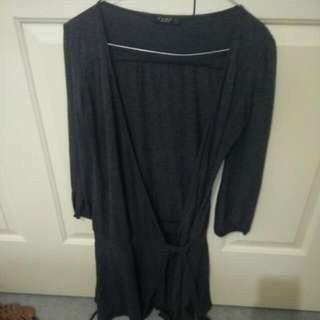 Grey Top Tie Up Size 8