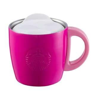 桃紅🌸星巴克春櫻不鏽鋼把手杯 Starbucks