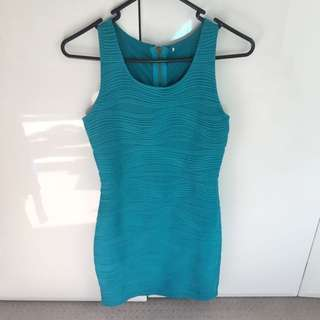 Blue Turquoise Dress Size 8