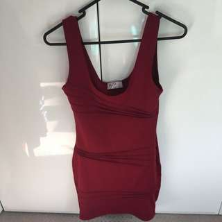 Red Burgundy Dress