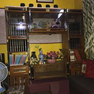 TV Rack With Display Cabinet
