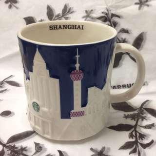 絕版🇨🇳星巴克上海SHANGHAI浮雕城市杯城市馬克杯 Starbucks