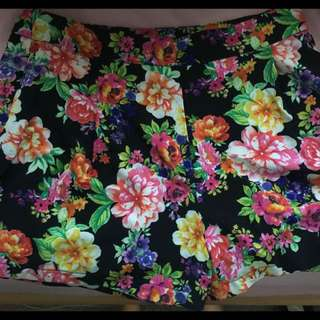 High Wasted Floral Shorts