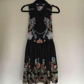 Bardot Printed Collared Dress