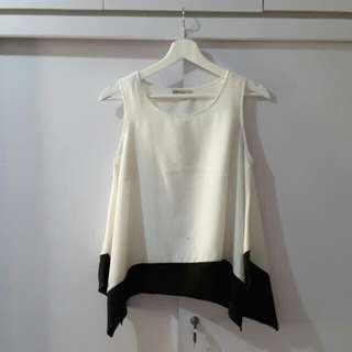 Ada Women White-Black Top