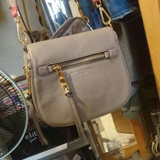 Marc Jacobs Crossbody Grey Leather Bag