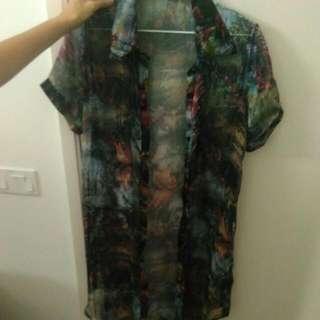 Sheer Watercolour Outerwear