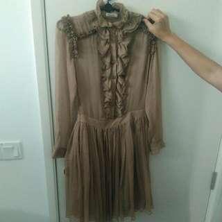 Sheer Ruffles Dress